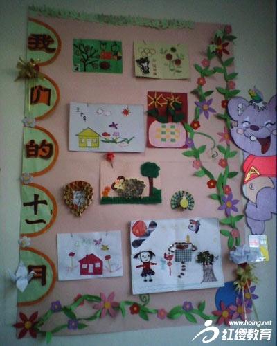 """上周,我园把用蔬菜边角料制作的手工作品摆进了教室的""""植物角"""",并布置"""